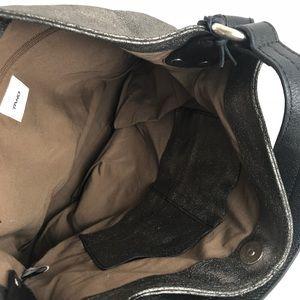 7ebe6791676 Tano Bags   Hobo Leather Handbag Pewter Black   Poshmark